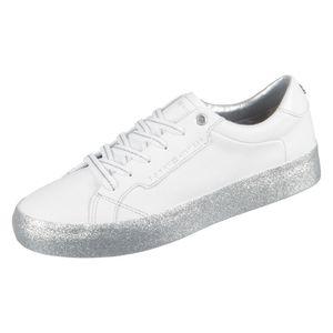 Tommy Hilfiger Foxing Dress Sneaker Damen Sneaker in Weiß, Größe 38