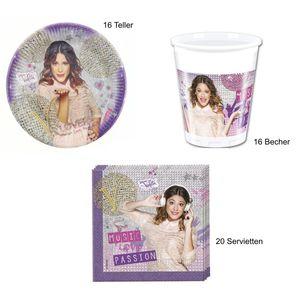 Disney Violetta Gold Edition - 52-teiliges Party Set 2  (16 Kinder)