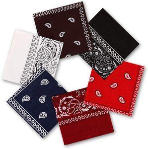 6 Stück Bandana Kopftuch, 100% Baumwolle Bandanas Halstuch 55 x 55 cm Kopftuch Armtuch Mischfarben Haar, Hals, Kopf Schal Nickituch Vierecktuch