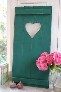 Landhaus Fensterladen green mit Herz,Shabby antique chic Handgefertigt