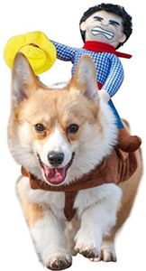 Reizende Katzenkostüm Hunde Haustier Kleidung, HundeKostüm Hundebekleidung Kostüme Kleidung Katze lustiges Kleid Cosplay, S, Farbe 5 Cowboy-Reiter-Art