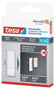 tesa Powerstrips Klebestreifen für Tapete/Putz transparent bis 0,5 kg (9 Stück)