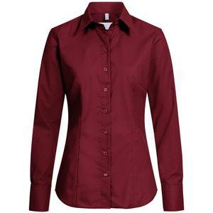 Größe 38 Greiff Corporate Wear Basic Damen Bluse Langarm Regular Fit Bordeaux Modell 6515