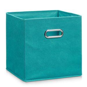 Zeller Aufbewahrungsbox, petrol, Vlies - 28x28x28; 14138