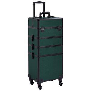 Yaheetech Kosmetik Trolley 4 in 1 Kosmetikkoffer Koffer Friseurkoffer Beauty Case auf Rollen