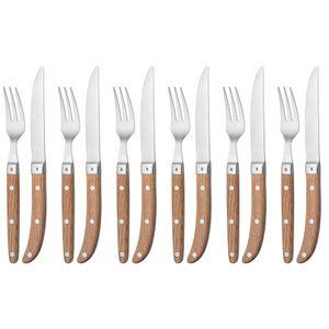WMF 12 8063 6046 Steakbesteck Set 12-teilig Ranch