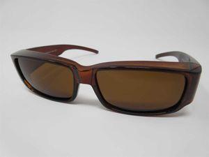 Polarisierende Überbrille braun Sonnenbrille für Brillenträger 100%UV CAT3