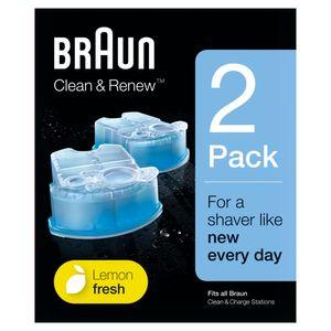 Braun Clean & Renew Ersatzkartuschen für elektrische Rasierer, 2er-Pack, kompatibel mit allen Braun SmartCare und Clean & Charge Reinigungsstationen