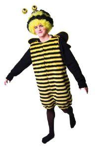 Karneval Herren Kostüm Biene Overall als Bienenkostüm Universalgr.