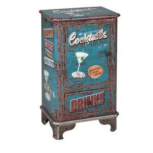 Beistelltisch Cocktails 116268 Retro Blau (75 X 44 x 30 cm)