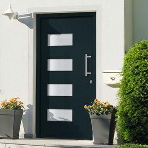 Eingangstür Aluminium und PVC Anthrazit 100x210 cm