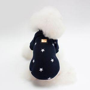 Haustier Tuch für Hund Katze Welpen Hoodies Mantel Winter Sweatshirt Warm Dark Blue L Farbe Dunkelblau L