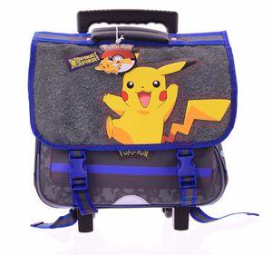 Pokemon Rucksack-Trolley Schulrucksack Tornister Kinderrucksack mit ausziehbarer Stange