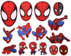 Eisen auf Patch 15 stück Spiderman Patches für Kleidung Stickerei Applique zum Nähen von Jacken Rucksäcken Jeans, A