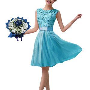 Neue Art und Weise Frauen-Chiffon- Spitze-Kleid Sleeveless O Ansatz Normallack-elegante Prinzessin Party-Kleid4XL Abendkleider