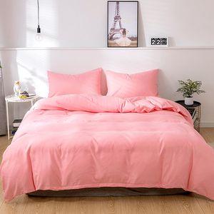 Bettwäsche Einfarbig Mikrofaser Bettwäsche-Sets - 1 mal Bettbezug 260x230cm und 2 mal Kissenbezug 50x70 cm