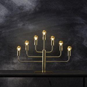 Kerzenleuchter 'Pix' - 7-armig - E14 Fassung - H: 40cm, L: 57cm - goldene Tischleuchte