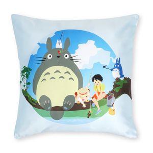 Totoro Deko Kissenbezug   Anime Sofa Kissen   50x50cm