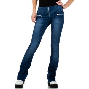 Ital-Design Damen Jeans Bootcut Jeans Blau Gr.28
