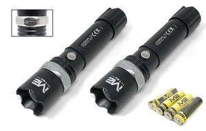 2x Polizei Swat Led Cree Taschenlampe Zoom 1000 Meter Leuchtweite inkl. 2x Akku