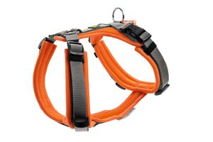 Hunter Hundegeschirr Maldon, Farbe:Orange/Grau, Größe:S-M