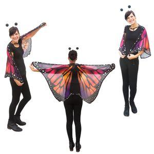 Oblique Unique Schmetterlingsflügel Umhang Schmetterling Kostüm Karneval -lila orange