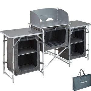 tectake Campingküche 172x52x104cm - grau