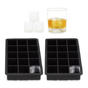relaxdays 2x Eiswürfelform Eiswürfelbehälter 3,5cm Eiswürfelbereiter Silikonform Eiswürfel