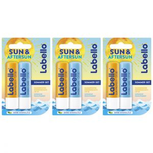 3 x Labello Sun & Aftersun Duo Lippenpflegeset Doppelpack 9,6g