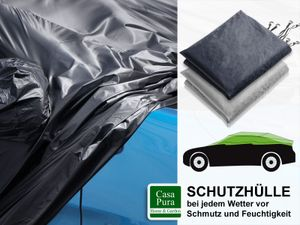 Autoabdeckung | Halbgarage | M | 259x122x61 | dunkelblau