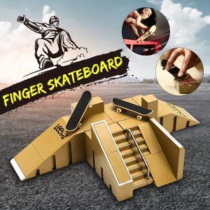 Fingerboard Rampe Finger Skate Park Kit Mini Fingerboard Ramp Skatepark Set Spielzeug