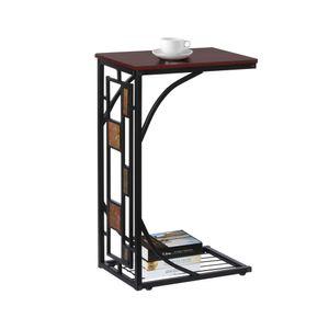 Yaheetech Stabiler Beistelltisch Couchtisch Kaffeetisch Teetisch Wohnzimmertisch mit praktischer Ablage 21 x 30,5 x 53 cm