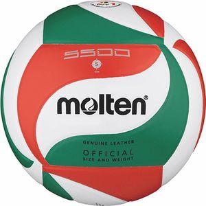 molten Volleyball DVV 1 Wettspielball Weiß/Grün/Rot Gr. 5