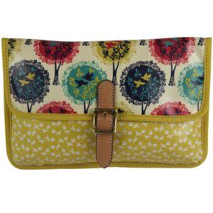 FOSSIL Canvas Leder Handtasche KEYPER MINI CROSSBODY Schultertasche Umhängetasche Bright Multi