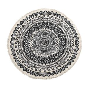 Marokko Area Rug Handmade Classic Chic Tapisserie Boho Style Druckmatte, Strand Farbe schwarz