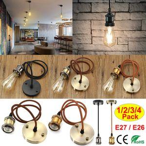 4 Stk E27 Pendelleuchte Bronze Lampenfassung Retro H?ngelampe Deckenlampe Lampe Zubeh?r