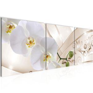 Blumen Orchidee BILD 120x40 cm − FOTOGRAFIE AUF VLIES LEINWANDBILD XXL DEKORATION WANDBILDER MODERN KUNSTDRUCK MEHRTEILIG 209133b