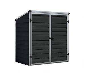 Palram - Canopia Gerätebox 137x90 cm Voyager schwarz Münntonnenbox Geräteschuppen Gartenbox Aufbewahrung