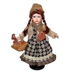 Mini Puppen Miniatur Sammlerpuppe Porzellanpuppe Spielzeug Puppen Dekoration Style4 44x16x13cm
