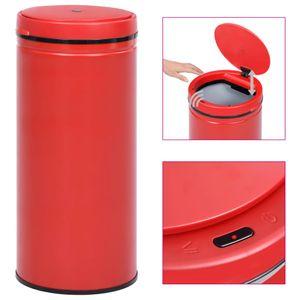 Automatischer Sensor-Mülleimer Abfalleimer Bin 80 L Kohlenstoffstahl Rot