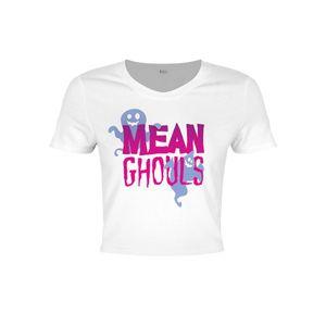 Grindstore Damen Crop-Top Mean Ghouls GR2556 (XS) (Weiß)