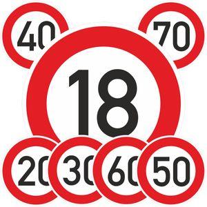 60. Geburtstag Geburtstagschild 60 Verkehrsschild Straßenschild Schild PVC 40 cm