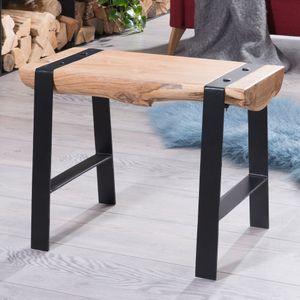 Desing Sitzhocker GAYA 60 x 45 x 28 cm Vollholz Akazie