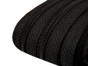 5m Endlos-Reißverschluss spiralförmig 3mm 332/580 schwarz