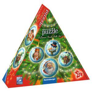 RAVENSBURGER 3D-Puzzle Christmas Puzzle-Ball-Set Puzzleball Puzzle 27 Teile ø5cm
