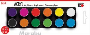 "Marabu Acrylfarben-Set ""BASIC"" 12 x 3,5 ml"