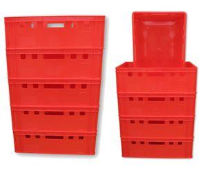 10 Stück E2 Kiste Eurofleischkiste Stapelkiste Box Metzgerkiste lebensmittelecht Farbe rot (10xE2 rot)