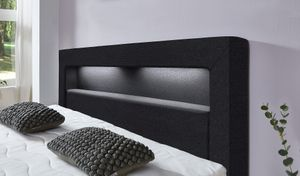 Relita LENA Boxspringbett mit LED Beleuchtung und USB Liegefläche 180x200 cm