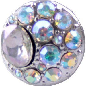 Chunk Beads in silber mit klaren Glassteinen