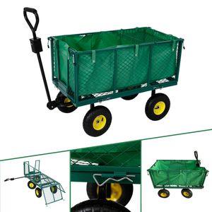 AREBOS Bollerwagen 550kg Transportwagen Gartenwagen Gerätewagen Handwagen Plane